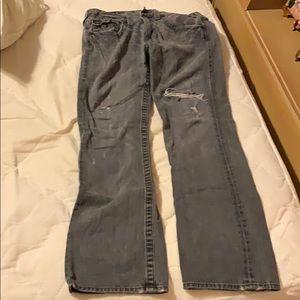 Men's grey true religion jeans